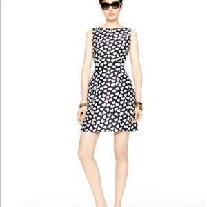 Kate Spade Dancing Hearts Dominoe Dress Black Sz 8